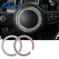 Wholesale For Mini cooper S F56 F55 R55 R56 R57 R61 R60 countryman clubman steering wheel diamonds crystal decoration interior accessori