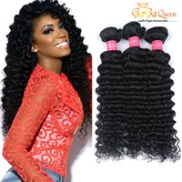 Vente en gros 7A Peruvian Deep Curly Human Hair Weaves Peruvian Virgin Hair Deep Wave Brésilien Péruvien Malaysian Indian Hair Weave Bundles