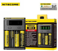 Wholesale E Max Cig Batteries - High Quality Nitecore NEW I4 Intellicharger Universal 1500mAh Max Output e cig Chargers for 18650 18350 26650 14500 AA Battery