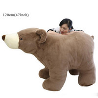 Jouet gigantesque en peluche pour ours polaire Big Soft Farcou Brown White Bears Doll 3 tailles Nice Gifts for Children
