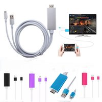 Wholesale Hdmi Data - New Plug and play Lightning to hdmi data cable for Ipad Iphone 5 6 6S 7 Plus ipad Support HD1080P ConnectionTV ios10
