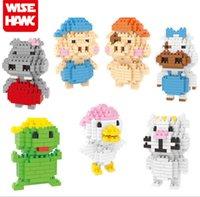 Wholesale Mcdull Pig Wholesale - Wisehawk 7 styles Mcdull pig Series Cartoon Figure blocks Toys for Kids Diamond Bricks Building Blocks #2255-2261