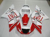 Wholesale 99 r6 plastics for sale - Group buy ABS plastic fairing kit for Yamaha YZF R6 white red fairings set YZFR6 OT19