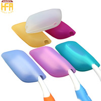 Wholesale Wholesale Toothbrush Case - Portable Silicon Toothbrush Holder Sanitary Toothbrush Tube 3Pcs Set Tooth Brush Case For Outdoor Travel Bathroom Accessories Mixed Colors