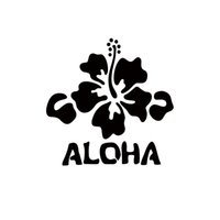 Wholesale flower decals cars - 2017 Hot Sale Car Stying Decal Hawaii Hibiscus Flower Beach Surfing Vacation Car Window Vinyl Decals Jdm