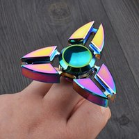 Wholesale 1pcs New Colorful Fidget Toy Hand Spinner Rotation Time Long For Autism and ADHD Kids Adult Funny Anti Stress By China Post