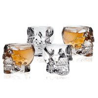 Wholesale Whiskey Crystal Set - Transparent Skull Shot Glass Crystal Head Cup for Whiskey Home Drinking Ware Man Gift Cup 4 pcs set