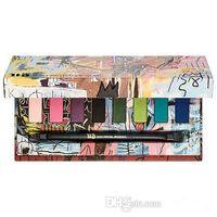 Wholesale refill brush - New 8 colors Jean-Michel Basquiat Tenant Eyeshadow Palette Matte Diamond Glitter Shimmer Eye Shadow Palette Makeup for Beauty with brush.