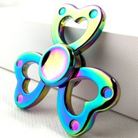 Wholesale Focus Movies - 2017 Newest Hotting Rainbow Colors Zinc alloy EDC Hand Fidget Spinner High Speed Focus Toy Gift free shipping
