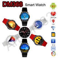 "Wholesale Gsm Wifi Cdma - GPS Smart Watch DM368 GSM 3G WiFi Bluetooth Android 5.1 Wristwatch CDMA Phone 1.39"" OLED Quad Core Heart Rate Monitor 512M + 8GB Smartwatch"