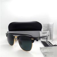 Wholesale Good Coat Brands - AAA GOOD Top quality Glass lens Brand Designer Fashion Men Women Plank frame Coating Sunglasses UV400 Sport Vintage Sun glasses With box B88