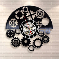 Wholesale Lps Decoration - Plastic Separates Black Mechanism Neck Vinyl LP Record Wall Clock Home Decoration Design Gift Decorate Child's Room