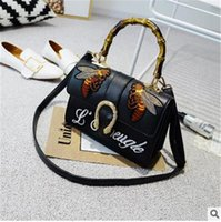 Wholesale Handbags Pu Usa - 2017 Free shipping hot selling fashion bag USA and European style women handbag with Embroidery clutch bag cross shoulder bags