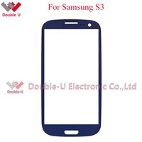 Wholesale S3 Glass Color - 50pcs lot black white color For Samsung Galaxy s3 s 3 i9300 front Glass lens outer screen cover Digitizer Replacement with Free shipping