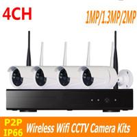 Wholesale Home Security Camera Kits - CCTV System 1 1.3 2MP 4CH Wireless NVR kit IR Night Vision IP Camera wifi Camera kit Home Security System Surveillance ann