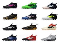 Wholesale Boot Shoes Boy Leather - 2017 Cheap Ace 17 purecontrol FG Kids Boys soccer Shoes Pure Control Football Boots women Men Soccer Cleats Primeknit High Quality