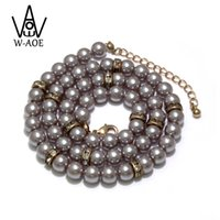 Wholesale- 2017 Nouvelle conception Simulated Round Pearl Jewelry Multilayer Beaded Long Collier Pour Femmes Accessoires Baroque Pearl Colliers