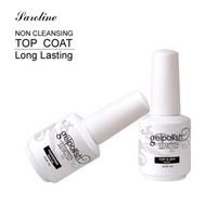 revestimento de verniz venda por atacado-Atacado-Saroline Base Coat Top Coat Gel Nails UV 15ml Gelpolish prego Soak Off Gel Lacquer Verniz Gel UV prego Primer em Nail Art