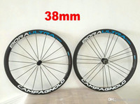 Wholesale Bora G3 - Blue G3 18 21 CAMPAGNOLO BORA ULTRA Carbon 38mm wheelset road bike carbon clincher wheelset kinds of colors