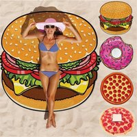 Wholesale Wholesale Personalized Towel - Cilected Donut Round Beach Towel Summer Beach Bath Towel With Tassel Quality Circle Microfiber Beach Towel Personalized