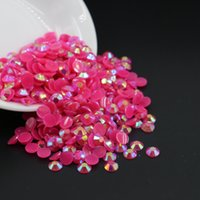 Wholesale Small Angels Sale - 3mm,4mm,5mm,6mm top sale plastic small size rhinestone Jelly Rose AB Resin Flatback Rhinestone All Size
