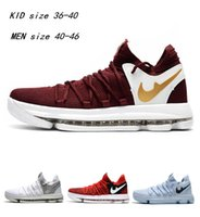 Wholesale Kd Womens - Hot Sale KD 10 Kids Womens Mens basketball Shoes for Kevin Durant 10 Children KD X EP new color Youth Children's 36-46
