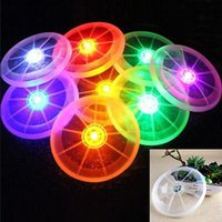 Wholesale Led Flying Disk - LED Flying Disk Light Up Frisbee Outdoor Sports Multi-Color Toys Pet Supplies Light Up Kids Sports Toys YYA401
