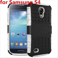 Hot Sale Phone Case 2in1 Dual Layer Kickstand Heavy Duty Armor Shockproof Hybrid Silicone Cover Case para Samsung Galaxy S4 i9500