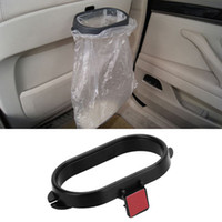 Wholesale Trash Can Bag Holder - Wholesale- Vehicle Frame Garbage Bag Holder Portable Rubbish Bin Car Organizer Trash Carry box Can Rack Auto Accessories Car Styling Hang