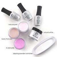 Wholesale Curing Lamps - Natural Pink Dipping Powder Without Lamp Cure Nails Natural Dry For Nail Salon