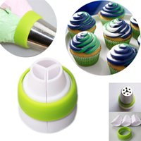 Wholesale Cake Mouth Nozzle - Cupcake Decorating Mouth Cake Decor Pastry Baking Tool Russian Piping Nozzle Kitchen Articles Multi Color 0 9jb C R