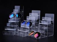 tırnak cilası satış ekranı toptan satış-Sıcak satış 2 adet Yüksek kalite cüzdan çanta ekran standı akrilik Cep Telefonu Ekran Tutucu Makyaj Kozmetik Gözlük Ruj Oje raf
