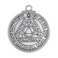 Wholesale Stamps Keys - Wholesale- Pentacle of the Sun Key of Solomon talisman charms pendants jewelry stamps alphabet religious items vintage jewelry