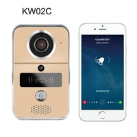 Wholesale Door Phone Night Vision - KW02C 720P H.264 Smart WiFi Video Door Phone intercom Doorbell Wireless Unlock IR CUT Night Vision Motion Decetion Alarm AT