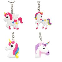 Wholesale Wholesale Cellphone Charms - hot sale Unicorn Keychain Keyring Cellphone Charms Handbag Pendant Kids Gift Toys Phone Decoration Accessory Horse Key Ring wholesale