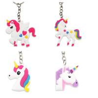cep telefonu için yüzük toptan satış-Sıcak satış Unicorn Anahtarlık Anahtarlık Cep Telefonu Charms Çanta Kolye Çocuklar Hediye Oyuncaklar Telefon Dekorasyon Aksesuarı At Anahtarlık toptan