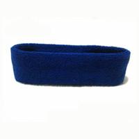 Wholesale Headbands Dark Brown Hair - Elastic Hair Band Breathable Exercise Sweatband Cotton Elastic Headbands Outdoor Running Outdoors Sports Accessories Yoga Belt - Dark Blue