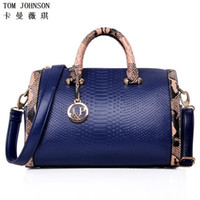 Wholesale Vintage Patent Leather Bags - Wholesale- HOT 2016 Women's Patent leather handbag Fashion Serpentine Vintage Bag Luxury Women Designer Handbags High Quality Brand Bags