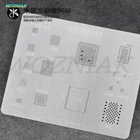 Wholesale Iphone Baseband Chip - Unique groove fixed IC Professional 3D Tin plant net For iPhone 6 6S 6p 6sp 7 7p A8 A9 A10 CPU CHIP IC baseband Power Tin Mesh