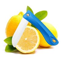 Barato Fruta De Cerâmica Branca-Protable Ultra Sharp Knife, Folding Vegetable Fruit Ceramic Knife with White Blade Use para corte / Paring