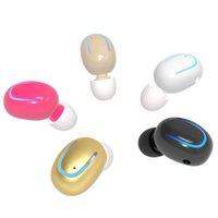 беспроводные наушники с невидимым ухом оптовых-Q13 Bluetooth Mini in-Ear наушники невидимые беспроводные наушники с микрофоном громкой связи для iPhone LG Android Phone BT 4.1 Earbud