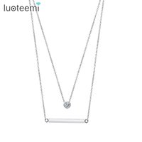 Wholesale string for women accessories - LUOTEEMI Brand New Fashion Simple Necklaces&Pendants Choker Collier For Women Party Jewelry Accessories Factory Wholesale Kolye
