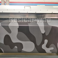Wholesale foil wrapped cars online - Matte Black Gray Camo VINYL Full Car Wrapping Camouflage Foil Stickers with Camo truck covering foil with air free size x m x98ft