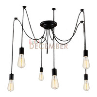 Wholesale diy ceiling pendant - Vintage LED Pendant Lights 6 8 10 12 14 16 18 20 22 Head LED Chandelier Lamps DIY Ceiling Lighting LED Pendant Light