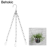 3 Point Garden Baskets Cadeia de ferro Flower Plantador Pots Holder Replacement Hanging Chains com gancho para ferramentas de jardim caseiras
