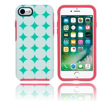 Wholesale Iphon Cases - fashion hybrid colorful layer symmetry rubber rugged heavy duty combo case cover skin for iPhon 7 iPhone 7 Plus anti-shock case