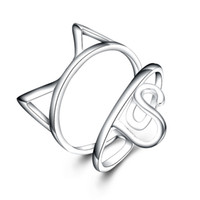 Wholesale Wholesale Kitty Ring - High Quality Wholesale Lowest Price The Latest Fashion 925 Sterling Silver Kitty Ring Best Christmas Present Free Ship