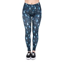 Wholesale Ladies Christmas Leggings - Lady Leggings Winter Christmas Trees 3D Graphic Print Women Skinny Stretchy Sportwear Elastic Waist Band Soft Pants Yoga Trousers (J38447)