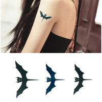 Wholesale Temporary Bat Tattoos - New Black bat Tattoo Stickers Design Spider Waterproof Male and female models Bird Temporary Tatoo Sticker