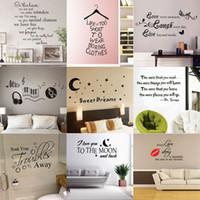 decalques murais removíveis venda por atacado-180 estilos Novo Removível Vinyl Lettering Citação Decalques de Parede Home Decor Adesivo Mordern Mural de arte para Crianças Berçário Sala de estar